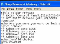 Jak zablokować folder bez żadnego programu