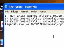 Jak stworzyć plik automatycznej kopii rejestru
