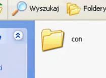 """Jak stworzyć folder o nazwie """"con"""""""