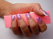 Jak wykonać zdobienie - fioletowe kropki