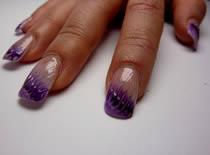 Jak wykonać zdobienie - fioletowa pajęczyna