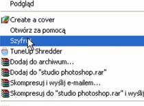 Jak dodać opcje szyfruj do menu kontekstowego