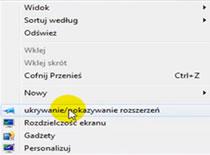 Jak dodać do menu kontekstowego pokazywanie i ukrywanie rozszerzeń