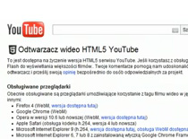 Jak odtwarzać filmy na YouTube bez Flash Player'a