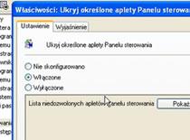 Jak ukryć określone programy w panelu sterowania