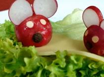 Jak zrobić myszki z rzodkiewki