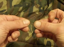 Jak wiązać haczyki - węzeł zaciskowy