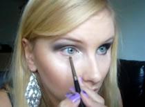 Jak zrobić wieczorowy makijaż - srebro i czerń