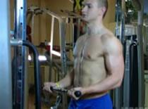 Jak trenować bicepsy - uginanie podchwytem na wyciągu