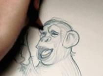 Jak narysować małpę z podniesionym kciukiem