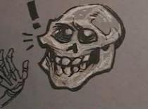 Jak narysować uśmiechniętą czaszkę
