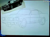 Jak narysować samochód ze zdjęcia - Ford Mustang