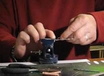 Jak zrobić blaszkę obrotową - strzemiączko i korpus