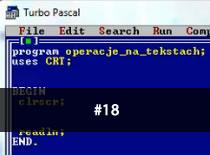 Jak programować w Pascalu #18 - Operacje tekstowe