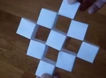 Jak zrobić przesuwające się sześciany z papieru