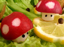 Jak zrobić muchomorki z rzodkiewek