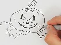 Jak narysować dynię na Halloween #1