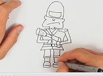 Jak narysować Kapitana Bombę