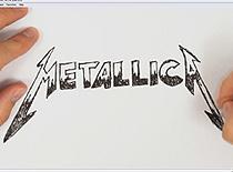 Jak narysować napis Metallica