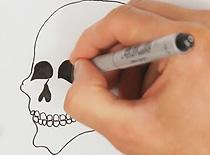 Jak narysować prostą czaszkę