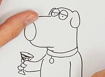Jak narysować Briana Griffina z Family Guy