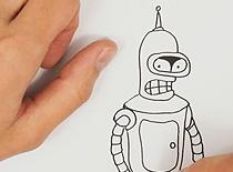 Jak narysować Bendera z Futuramy