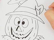Jak narysować dynię na Halloween #2
