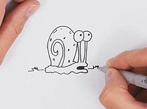Jak rysować postacie z kreskówek - ślimak Gary