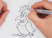 Jak narysować zabawnego ptaka