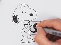 Jak narysować postać z komiksu - Snoopy