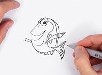 Jak narysować rybkę Dory z filmu Gdzie jest Nemo