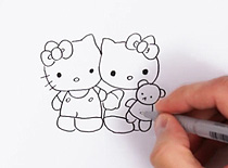 Jak narysować Hello Kitty