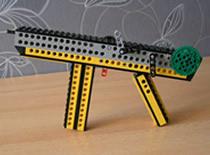 Jak zrobić karabin z Lego na gumki recepturki