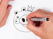 Jak narysować świnkę z Angry Birds