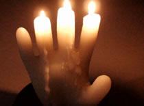 Jak zrobić świecznik w kształcie dłoni