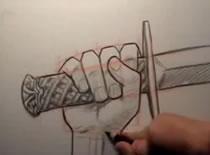 Jak narysować rękę trzymającą miecz