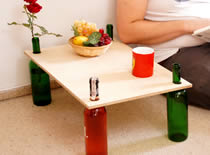 Jak zrobić stolik na butelkach