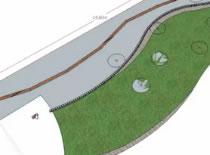 Jak zrobić wizualizację ogrodu #2 - Obrzeże ogrodowe