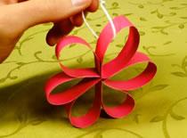 Jak zrobić ozdoby na choinkę - Kwiatek