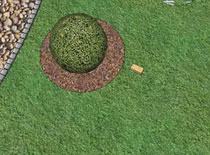 Jak zrobić wizualizację ogrodu #3 - obrzeże z kostki trapezowej