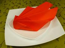 Jak ozdobić stół - składanie serwetek w liść