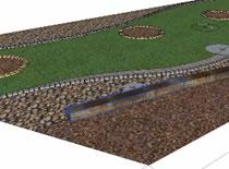 Jak zrobić wizualizację ogrodu #4 - murek z podkładów kolejowych