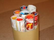 Jak zrobić stojak na gazety z rolek po papierze kuchennym