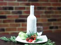 Jak zrobić ozdobną butelkę świąteczną