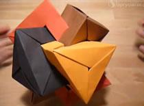 Jak zrobić 4 przenikające się trójkątne figury
