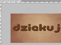 Jak zrobić czekoladowy napis w Photoshop #1
