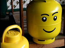 Jak odnowić butlę gazową - głowa Lego