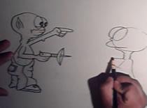 Jak narysować ufoludka z bronią