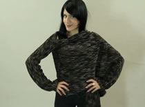 Jak zrobić sweter - kardigan z długimi rękawami