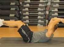 Jak wykonywać ćwiczenia brzucha - banan